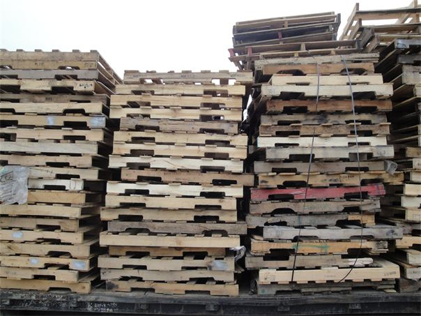 Picture of scrap pallets that we picked up.